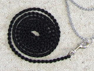 Lead - Fine braided with silver clip